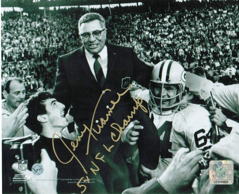"Jerry Kramer Green Bay Packers Autographed 8x10 Photo Inscribed ""5X NFL Champ"" PSM-Powers Sports Memorabilia"
