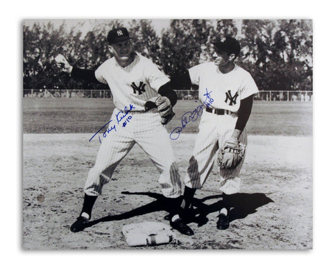 Tony Kubek & Phil Rizzuto New York Yankees Dual Autographed 16x20 Photo PSM-Powers Sports Memorabilia