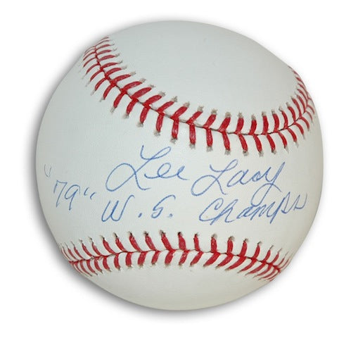 "Autographed Lee Lacy Baseball Inscribed ""79 WS Champs"" PSM-Powers Sports Memorabilia"