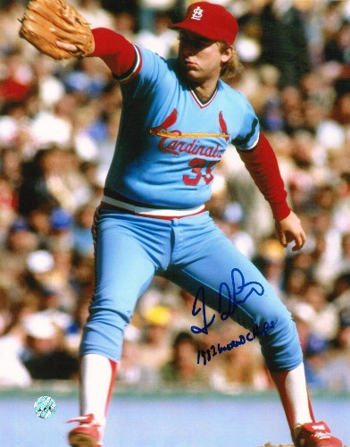 Dave LaPoint St Louis Cardinals Autographed 8x10 Photo Inscribed 1982 World Champs PSM
