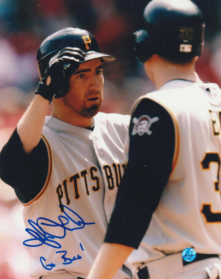 "Adam LaRoche Pittsburgh Pirates Autographed 8x10 Photo Inscribed ""Go Bucs"" -With Jason Bay- PSM-Powers Sports Memorabilia"