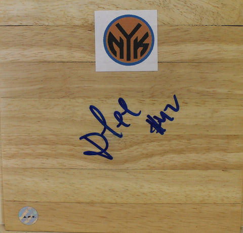 David Lee New York Knicks Autographed 6x6 Floor Board PSM-Powers Sports Memorabilia