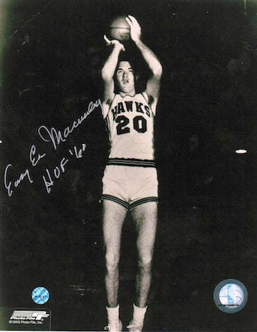 Autographed Easy Ed Macauley St. Louis Hawks 8x10 Photo PSM-Powers Sports Memorabilia