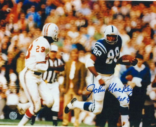 "Autographed John Mackey Baltimore Colts 8x10 Photo Inscribed ""HOF 92"" PSM-Powers Sports Memorabilia"