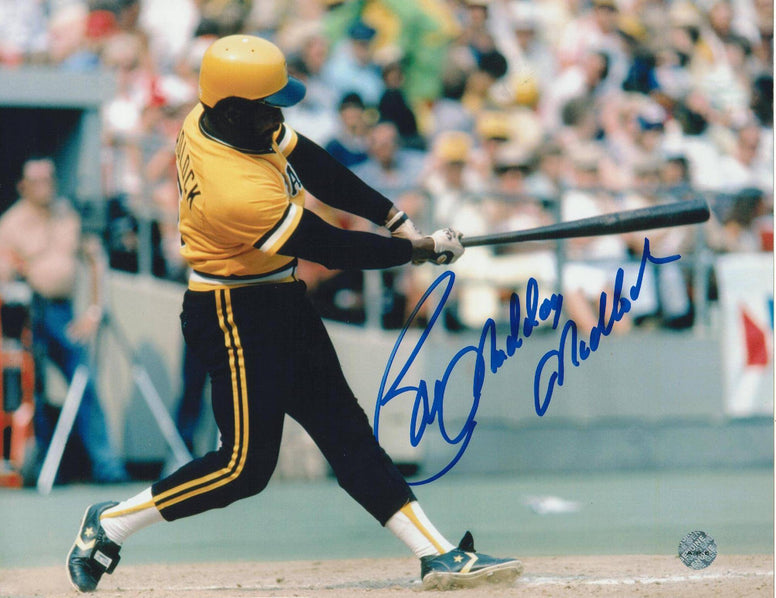 "Bill Madlock Pittsburgh Pirates Autographed 8x10 Photo Inscribed ""Mad Dog"" -Swing- PSM-Powers Sports Memorabilia"