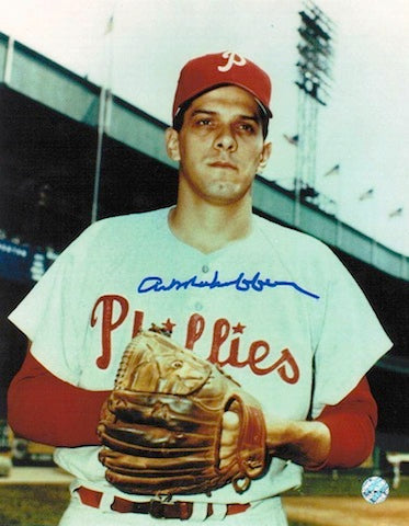 Autographed Art Mahaffey Philadelphia Phillies 8x10 Photo PSM-Powers Sports Memorabilia
