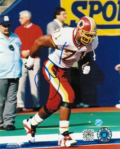 Autographed Charles Mann Washington Redskins 8x10 Photo PSM-Powers Sports Memorabilia