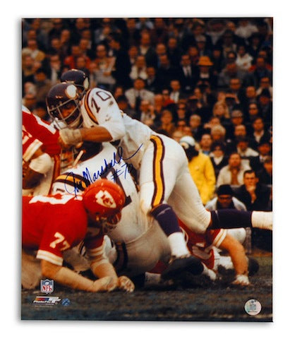 Autographed Jim Marshall Minnesota Vikings 16x20 Photo PSM-Powers Sports Memorabilia