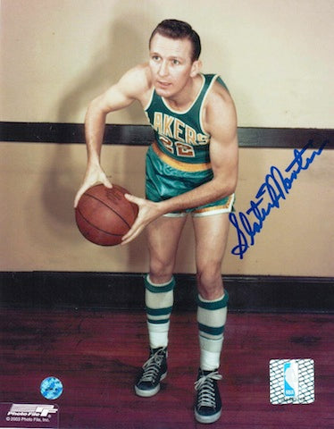 Autographed Slater Martin Minneapolis Lakers 8x10 Photo PSM-Powers Sports Memorabilia