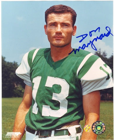 Autographed Don Maynard New York Jets 8x10 Photo PSM-Powers Sports Memorabilia