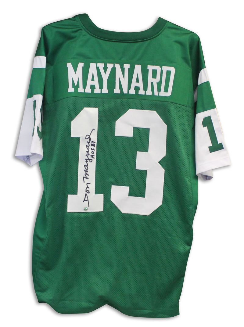 "Don Maynard New York Jets Autographed Green Jersey Inscribed ""HOF 87"" PSM-Powers Sports Memorabilia"