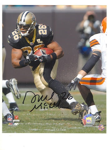 Autographed Deuce McAllister New Orleans Saints 8x10 Photo Running vs. the Browns PSM-Powers Sports Memorabilia