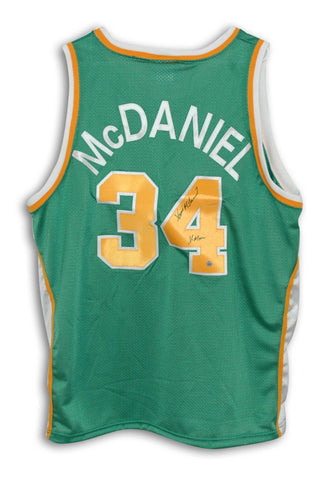 50ad2cbe99aa Xavier McDaniel Seattle Supersonics Autographed Throwback Jersey Inscribed