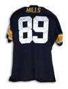 "Ernie Mills Pittsburgh Steelers Autographed Black Throwback Jersey Inscribed ""95 AFC Champs"" PSM-Powers Sports Memorabilia"