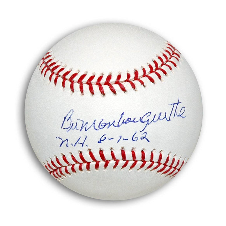 "Bill Monbouquette Autographed MLB Baseball Inscribed ""NH 8-7-62"" PSM-Powers Sports Memorabilia"