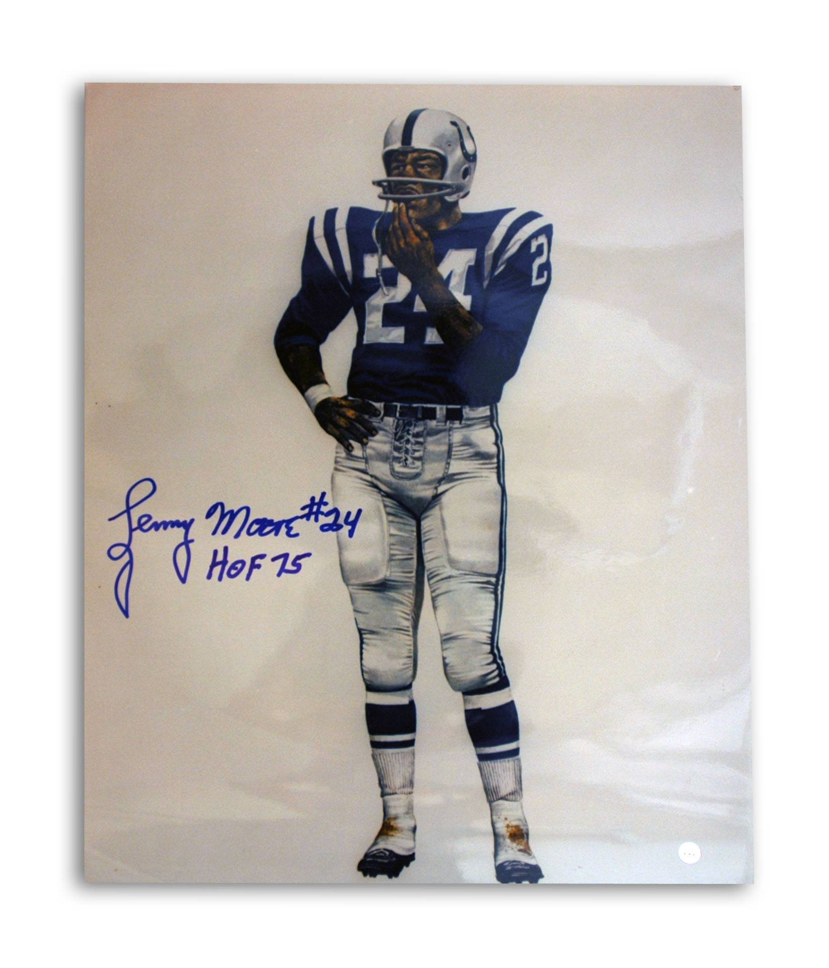 "Lenny Moore Baltimore Colts Autographed 16x20 Photo Inscribed ""HOF 75"" -Litho- PSM-Powers Sports Memorabilia"