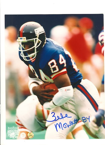 "Autographed Zeke Mowatt New York Giants 8x10 Photo Inscribed ""84"" PSM-Powers Sports Memorabilia"