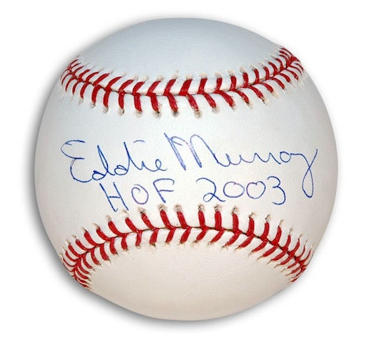 "Autographed Eddie Murray MLB Baseball Inscribed ""HOF 2003"" PSM-Powers Sports Memorabilia"