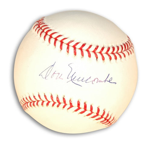 Autographed Don Newcombe Baseball PSM-Powers Sports Memorabilia