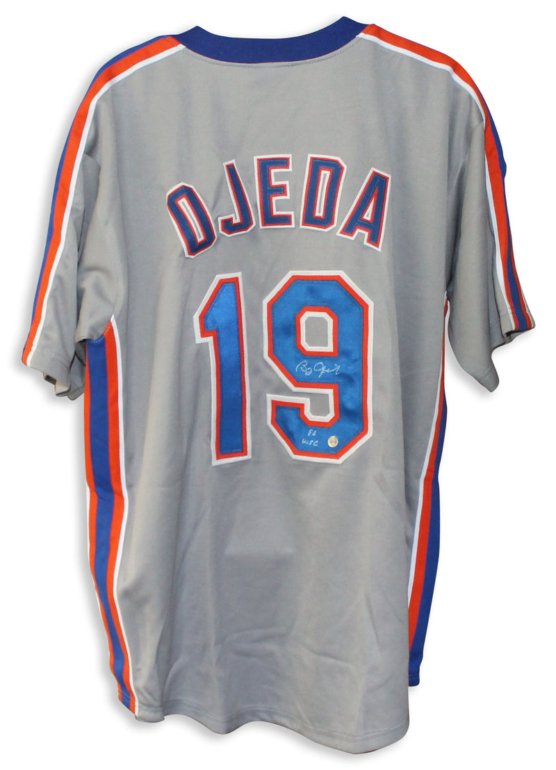 "Bobby Ojeda New York Mets Autographed Gray Jersey Inscribed ""86 WSC"" PSM-Powers Sports Memorabilia"