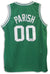 Robert Parish Boston Celtics Autographed Green Jersey PSM-Powers Sports Memorabilia