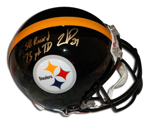 "Autographed Willie Parker Steelers Proline Helmet inscribed ""SB Record 75 YD TD Run"" PSM-Powers Sports Memorabilia"