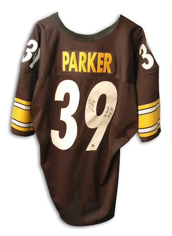 "Autographed Willie Parker Steelers Jersey inscribed ""SB Record 75 YD TD Run"" PSM-Powers Sports Memorabilia"