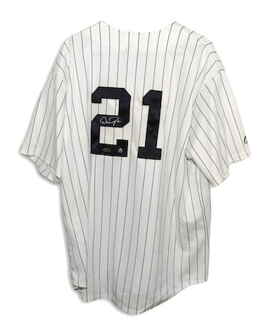 Autographed Dan Pasqua New York Yankees Pinstripe Majestic Jersey PSM-Powers Sports Memorabilia