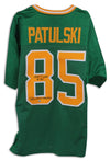 "Walt Patulski Notre Dame Fighting Irish Autographed Green Jersey Inscribed ""Play Like A Champion"" PSM-Powers Sports Memorabilia"