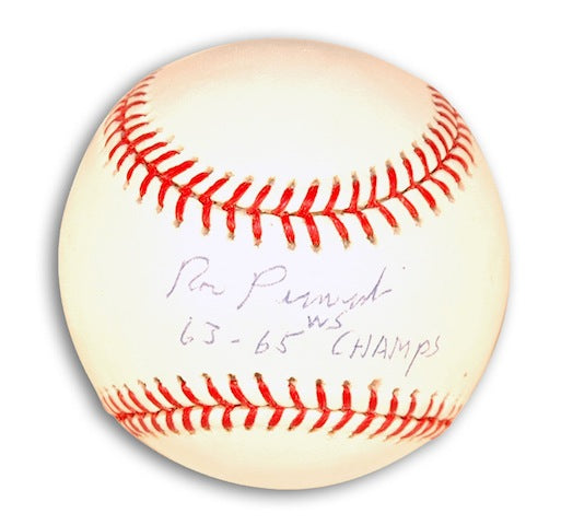 "Autographed Ron Perranoski Baseball Inscribed ""63-65 WS Champs"" PSM-Powers Sports Memorabilia"