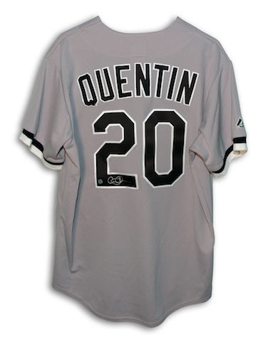 Autographed Carlos Quentin Chicago White Sox Gray Majestic Jersey PSM-Powers Sports Memorabilia
