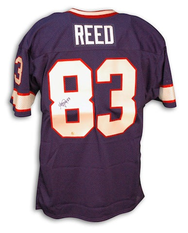 Autographed Andre Reed Buffalo Bills Throwback Blue Jersey PSM-Powers Sports Memorabilia