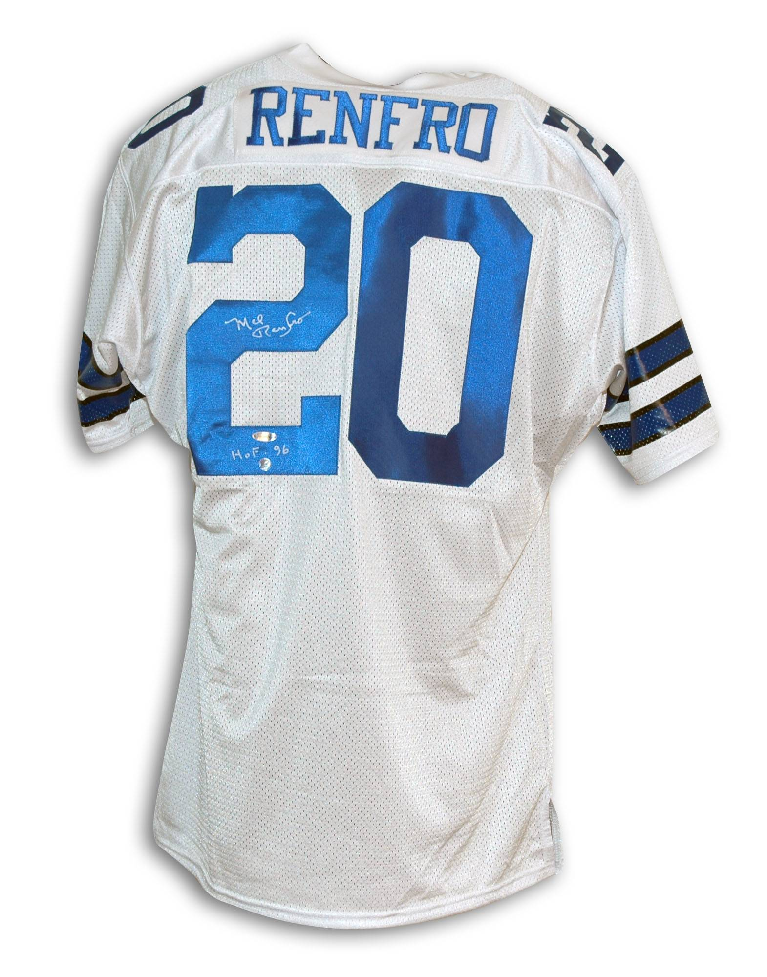"Mel Renfro Dallas Cowboys Autographed Throwback Jersey Inscribed ""HOF 96"" PSM-Powers Sports Memorabilia"