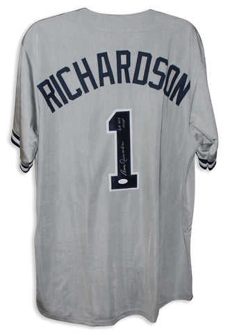 1e23b2ae78c Bobby Richardson New York Yankees Autographed Gray Jersey Inscribed