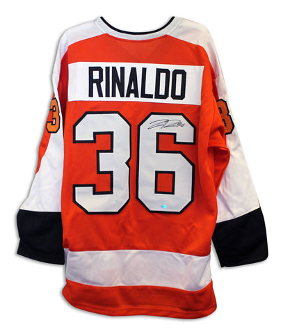Zac Rinaldo Philadelphia Flyers Autographed Orange Throwback Jersey PSM-Powers Sports Memorabilia