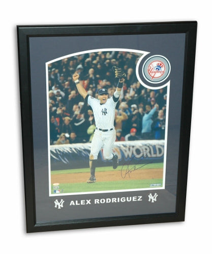 Alex Rodriguez New York Yankees Autographed Framed 16x20 Photo PSM-Powers Sports Memorabilia