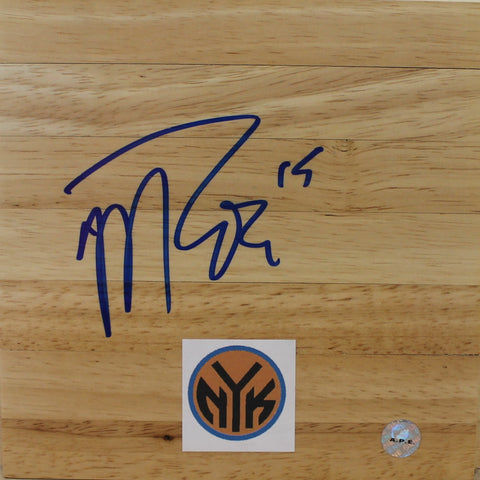 Malik Rose New York Knicks Autographed 6x6 Floor Board PSM-Powers Sports Memorabilia