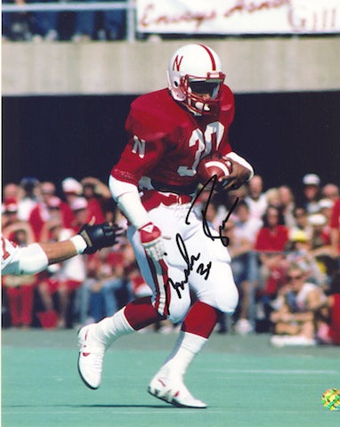 "Autographed Mike Rozier University of Nebraska 8x10 inscribed ""30"" PSM-Powers Sports Memorabilia"