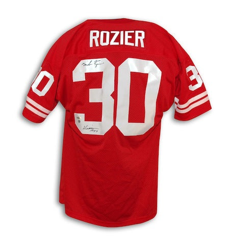 "Autographed Mike Rozier University of Nebraska Jersey Inscribed ""Heisman 1983"" PSM-Powers Sports Memorabilia"