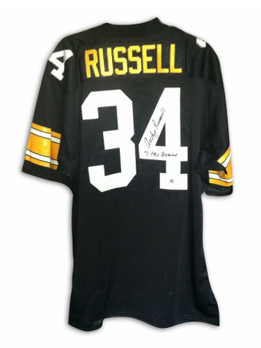 "Andy Russell Pittsburgh Steelers Autographed Black Throwback Jersey Inscribed ""7 Pro Bowls"" PSM-Powers Sports Memorabilia"