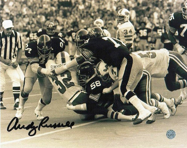 Autographed Andy Russell Pittsburgh Steelers 8x10 Photo PSM-Powers Sports Memorabilia