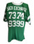 "New York Jets Green Throwback Jersey Autographed By All 4 Members of the New York Jets ""Sack Exchange"" Defensive Line, Joe Klecko, Mark Gastineau, Marty Lyons and Abdul Salaam PSM-Powers Sports Memorabilia"