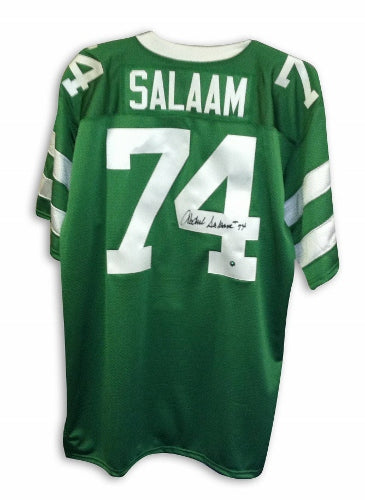 Abdul Salaam New York Jets Autographed Green Throwback Jersey PSM-Powers Sports Memorabilia