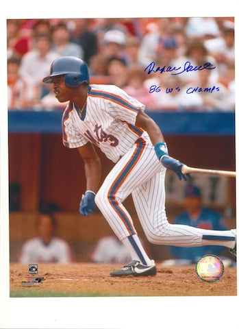 "Autographed Rafael Santana New York Mets 8x10 Photo Inscribed ""86 WS Champs"" PSM-Powers Sports Memorabilia"