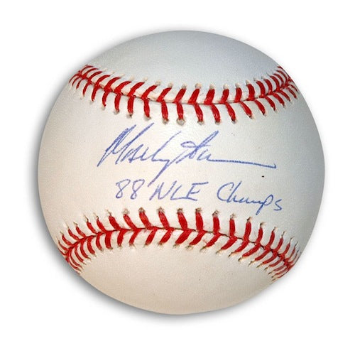 "Autographed Mackey Sasser Baseball Inscribed ""88 NLE Champs"" PSM-Powers Sports Memorabilia"