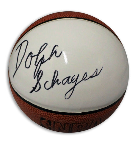 Dolph Schayes Autographed Mini Basketball PSM-Powers Sports Memorabilia