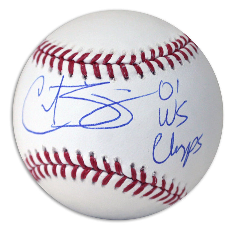 "Curt Schilling Autographed Official MLB Baseball Inscribed ""01 WS Champs"" PSM-Powers Sports Memorabilia"
