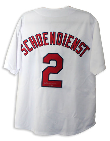 "Red Schoendienst St. Louis Cardinals Autographed White Jersey Inscribed ""HOF 89"" PSM-Powers Sports Memorabilia"