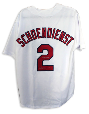 "Red Schoendienst St. Louis Cardinals Autographed White Jersey Inscribed ""46 WS Champs"" PSM-Powers Sports Memorabilia"