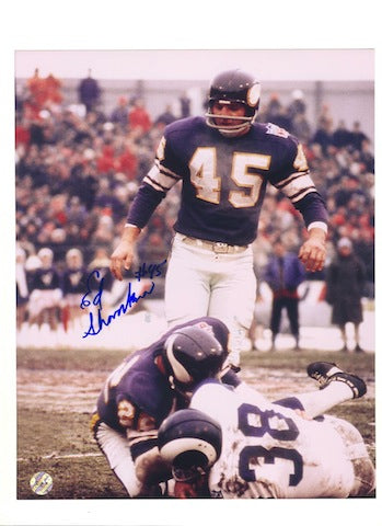 Autographed Ed Sharockman Minnesota Vikings 8x10 Photo PSM-Powers Sports Memorabilia
